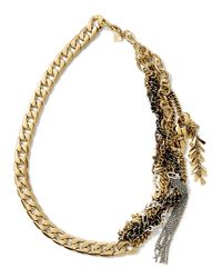 Banana Republic   Metallic Mixed-metal Chain Necklace   Lyst