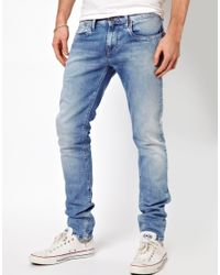 Pepe Jeans | Blue Hatch Skinny Fit Bleach Wash for Men | Lyst