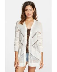 Volcom | White 'reflections' Cardigan | Lyst