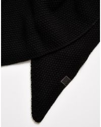 Jack & Jones - Black Scarf In Triangle for Men - Lyst
