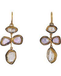 Judy Geib - Purple Pink Sapphire & Herkimer Diamond Earrings Size Os - Lyst