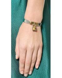 Rebecca Minkoff - Metallic Locked Charm Cuff Bracelet - Silver/Gold - Lyst
