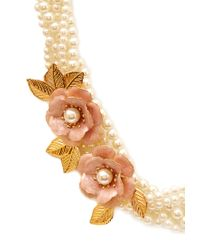 Forever 21 - Pink Opulent Braided Faux Pearl Choker - Lyst