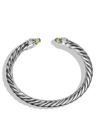 David Yurman - Metallic Waverly Cable Bracelet With Prasiolite & Diamonds - Lyst