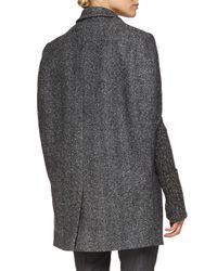 Michael Kors - Gray Herringbone Three-button Cape Jacket - Lyst