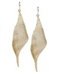 Steve Madden | Metallic Gold-Tone Mesh Drop Earrings | Lyst
