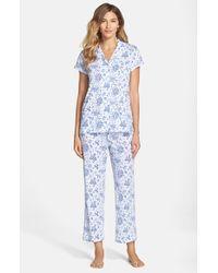 Carole Hochman Blue 'embellished Foulard' Pajamas