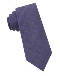 Calvin Klein | Purple Textured Tie for Men | Lyst