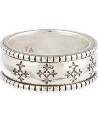 Nialaya | Metallic Cross Patterned Ring | Lyst