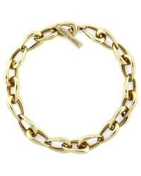 Vince Camuto | Metallic Gold-Tone Oblong Links Collar Necklace | Lyst