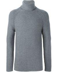 Helmut Lang - Gray Turtle Neck Sweater for Men - Lyst