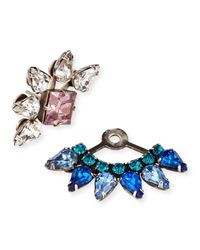 DANNIJO - Metallic Livi Crystal Jacket Earrings - Lyst