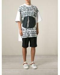 Juun.J - White Doodle-Print T-Shirt for Men - Lyst