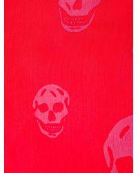 Alexander McQueen   Red 'skull' Scarf   Lyst