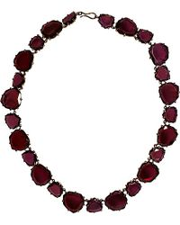 Annoushka - Black 18ct Rose Gold And Garnet Shard Necklace - Lyst
