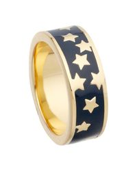 Astley Clarke | Blue Colour Star Shower 18ct Gold Vermeil Stacking Ring | Lyst