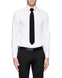 Hardy Amies - Blue Diagonal Stripe Silk Tie for Men - Lyst