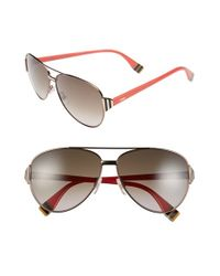 Fendi | Brown 60mm Aviator Sunglasses | Lyst