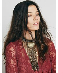 Free People | Blue Womens Exaggerated Fringe Collar | Lyst