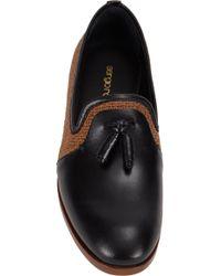 Sergio Rossi - Black Twotone Tassel Loafers for Men - Lyst