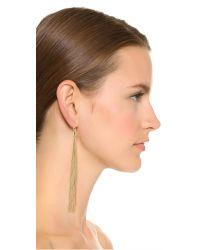 Kenneth Jay Lane - Metallic Snake Chain Tassel Earrings - Lyst