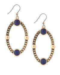 Lucky Brand | Blue Lapis Oval Drop Earrings | Lyst