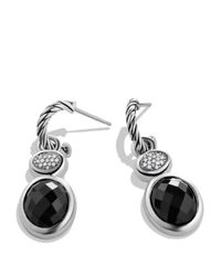 David Yurman | Metallic Renaissance Drop Earrings With Black Onyx & Diamonds | Lyst