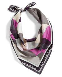 Emilio Pucci | Gray 'Fantasia' Silk Scarf | Lyst