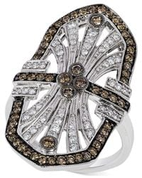 Le Vian | Metallic Chocolatier® Chocolate Deco Estate™ Diamond ( 9/10 Ct. T.w.) Ring In 14k White Gold | Lyst