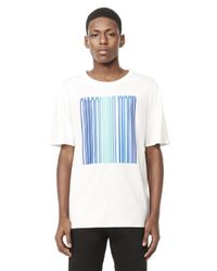 Alexander Wang - White Welded Barcode Short Sleeve Tee for Men - Lyst