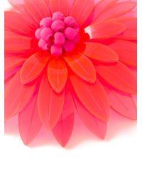 Issa | Red Azalea Brooch | Lyst