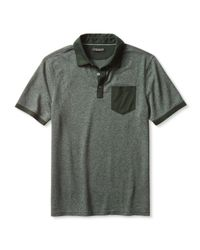 Banana Republic | Green Luxe-touch Colorblock Polo for Men | Lyst