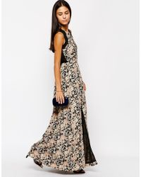 Sugarhill - Black Lottie Maxi Dress - Lyst