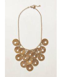 Anthropologie | Metallic Dreamscape Bib Necklace | Lyst