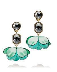Tory Burch | Green Pentier Embellished Dangle Earring | Lyst