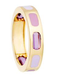 Astley Clarke | Metallic Gold-plated Amethyst Prismic Slice Ring | Lyst