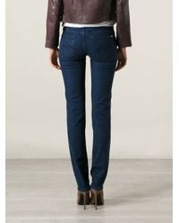 7 For All Mankind - Blue 'Roxanne Silk Touch' Jeans - Lyst