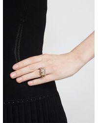 Yvonne Léon - Green 18Kt Gold And Black Diamond Leopard Ring - Lyst