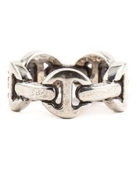 Hoorsenbuhs - Metallic Classic Tri-link Ring for Men - Lyst