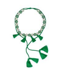 Shourouk - Green Sautoire Amerindien Necklace - Lyst
