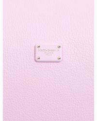 Dolce & Gabbana - Pink Greta Grained Leather Top Handle Bag - Lyst