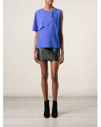 Sonia by Sonia Rykiel - Blue Flouncy Layered Top - Lyst
