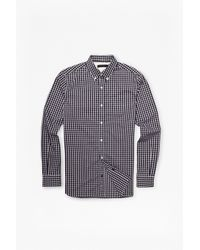 French Connection | Black Bacon Lifeline Checked Shirt for Men | Lyst