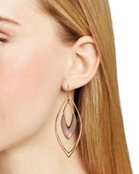Alexis Bittar - Pink Lucite Orbiting Wire Drop Earrings - Lyst