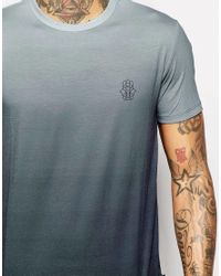 Jaded London - Blue T-shirt With Ombre Print for Men - Lyst