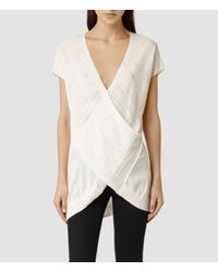 AllSaints | White Twist Sleeveless | Lyst