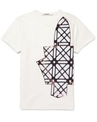 Chalayan - White Printed Cotton-Jersey T-Shirt for Men - Lyst