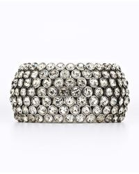 Ann Taylor | Metallic Crystal Statement Stretch Bracelet | Lyst