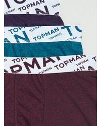 TOPMAN - Multicolor Jewel Marl Angle Underwear 3 Pack for Men - Lyst