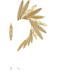 Rosantica | Metallic Gold-Dipped Pearl Ear Cuff | Lyst